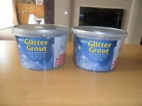 two tubs of grafix glitter grout