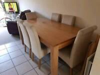 6 seater oak furniture land dining set