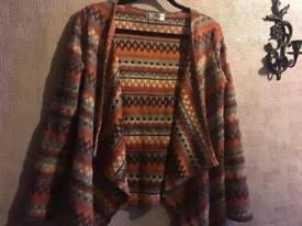 Ladies open cardigan brown size S/8 Ex condition £4
