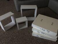 Ikea shelves lack white x6