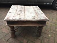 Solid wood coffee table outdoor table garden coffee table