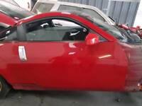 NISSAN 350Z COUPE DRIVERS DOOR RED 2006 *BREAKING*