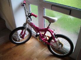 "Girls Bicycle 18"" Wheel Bike Age 6 - 9yr old"
