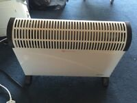 Electric convector heater with timer