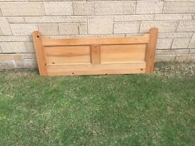 Double bed headboard - solid pine.