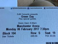 2x Greenday Tickets Manchester Arena