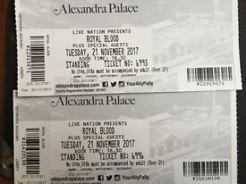 2 Royal Blood tickets for Alexandra Palace Tuesday 21st November