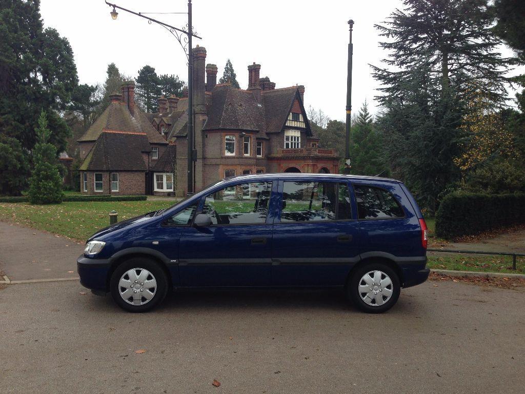 54 Plate Vauxhall Zafira 7 Seater 1 6 90 000 Vosa History