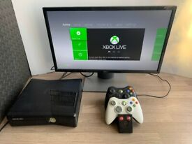 Xbox 360 250GB ,2 Wireless Controllers, Charging Dock, 24 Inch Dell Monitor London