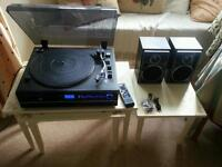 Record player turntable system