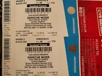 DEPECHE MODE LONDON 03/06 2 tickets for sale