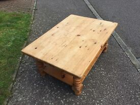 Large Solid Pine Coffee Table For Sale - Kettering