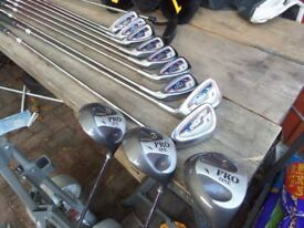 Full set (13) DONNAY PRO ONE rh inc. Donnay bag. Comes with Tornado TX trolley
