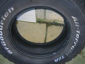 Two tyres 4x4 off Nissan Navara