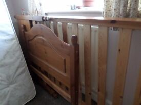 pine beds single x 2 with mattresses . both clean and in good condition