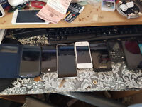 job lot of half working and non work ing mobiles