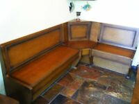 Corner seat for kitchen dining area, with under seat storage.