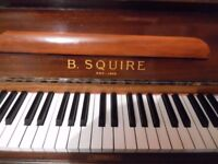 small upright piano by squire -----also required---