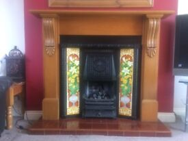 Gas Fire Victorian reproduction surround and hearth