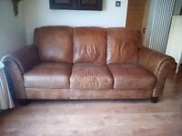 Beautiful Dfs Peyton three seater leather sofa
