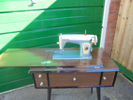 'Standard' Sewing Machine in Mahogany Cabinet