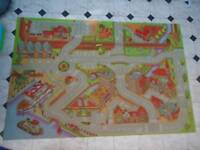 Large Kids Road Map Play Rug - £5 **FREE DELIVERY**