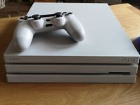 White PlayStation 4 Pro 1Tb Console + 6 Games