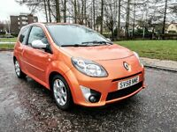 2008..RENAULT TWINGO GT TCE 1.2 100..NEW BRAKES..FULL SERVICR HISTORY..LONG MOT ..3D..ORANGE...VGC.