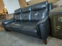 Sofology Electric USB Recliner Grey Sofa settee Maddox Deliv Poss