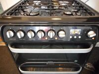 HOTPOINT DUAL FUEL DOUBLE FAN ASSISTED COOKER**NEAR NEW**