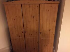 3 Piece Solid Wood Bedroom Furniture Set