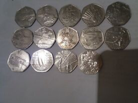 Olympic 50p coins various