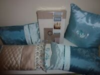 2 x Duvet Sets New & 4 Cushions As New