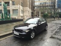 BMW 1 Series 1.6 116i SE 3dr, petrol, hatchback, black, 6 speed manual