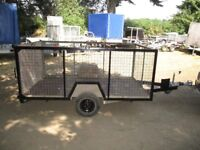 8 X 5 X 3 CAGED TRAILER 750KG UNBRAKED WITH DROPTAIL......