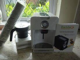 New (unboxed) Barista rijo42 Uno Cafetera Expresso Coffee Machine, Electric Milk Foamer, Instruction