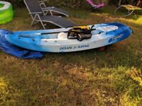Ocean kayak frenzy sit on kayak canoe hardly used everything you need to get on the water included