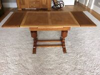 ANTIQUE OAK REFECTORY TABLE - EXTENDABLE