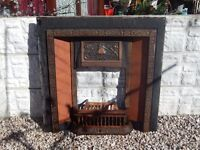 cast iron fireplace / mantle piece / fire surround / vintage / cast iron / old fire / overmantle