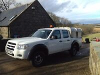 Ford Ranger - 4x4, Crew cab, Ifor Williams canopy, MOT November 2017 £2400