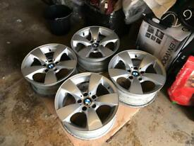 "BMW Genuine Alloys 17"" like new"