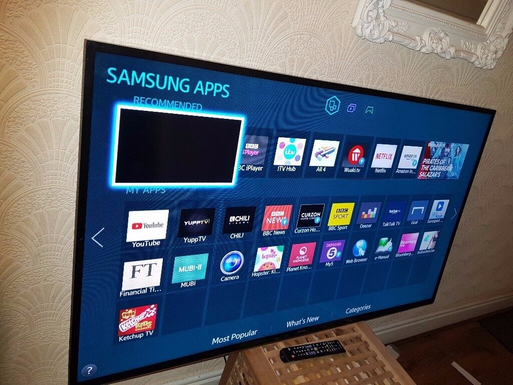 samsung 60 inch 60h6200 smart led tv built in wifi freeview hd netflix pls read description. Black Bedroom Furniture Sets. Home Design Ideas