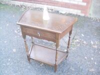 Pretty Oak Vintage Single Drawer Side / Hall Table