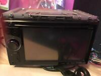 Double din cd DVD player with built in satnav