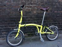 Brompton Bike Yellow S3L Excellent Condition