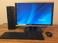"GAMING FULL SET PC Lenovo - i5 3470, 8GB, GeForce GT710, Windows 10+ 22"" Monitor Desktop PC Computer"