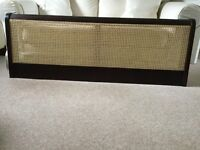 Bed head, solid wood and cane, for king size bed