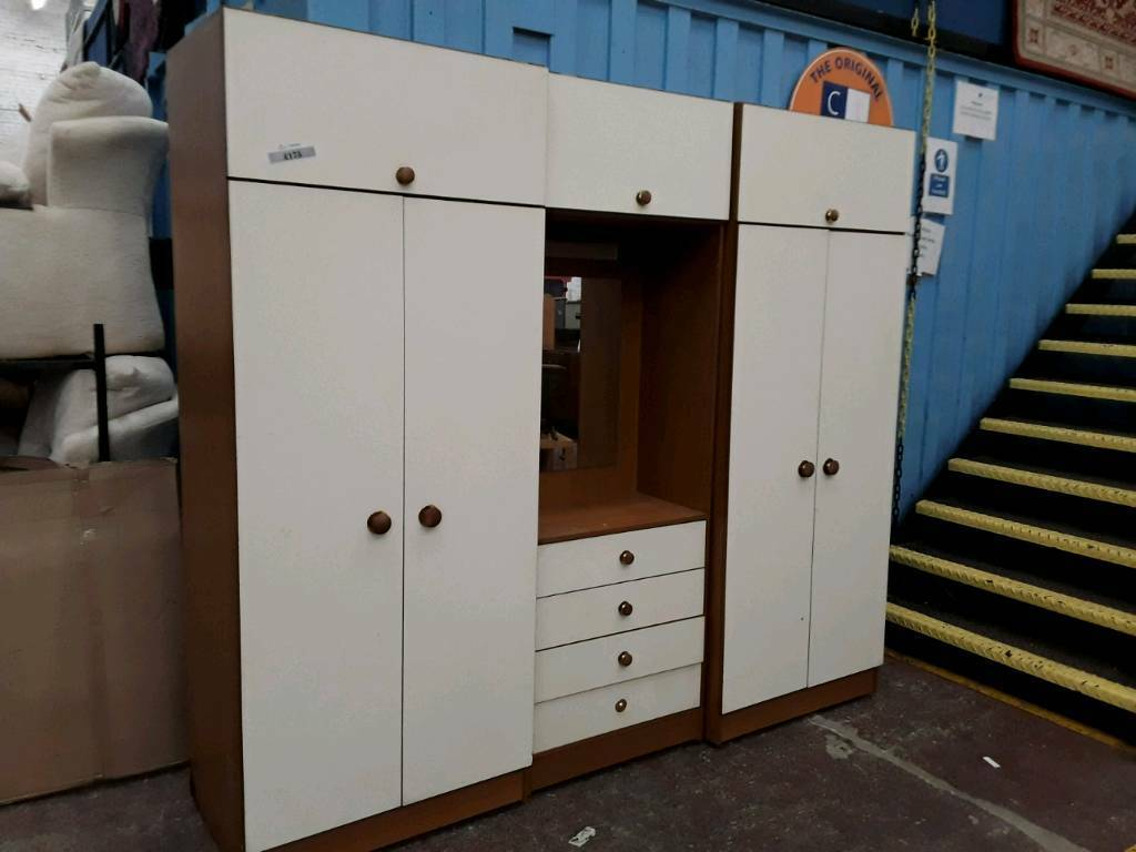 Modern Wardrobes, Drawers and Cupboard Unit With Mirror