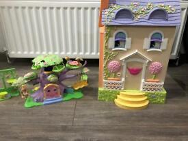 Nanny oaks talking interactive dolls house and tree house .