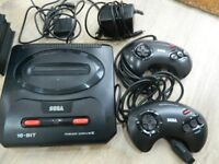 Sega Mega Drive 2 with 7 games, 2 controllers and all leads